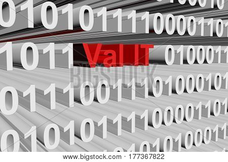 Val IT in the form of binary code, 3D illustration