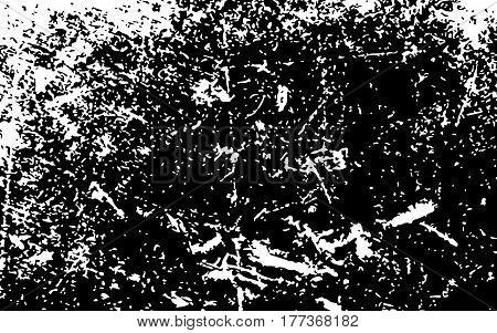 Paint White Color Smeared. White Splashes. Black Background. Grunge Texture. Vector Illustration