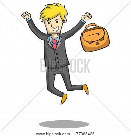 Vector illustration of businessman character collection stock