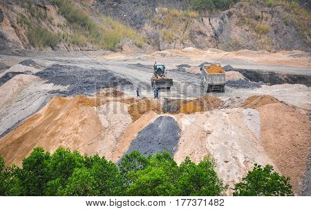 People Working At The Mine In Northern Vietnam