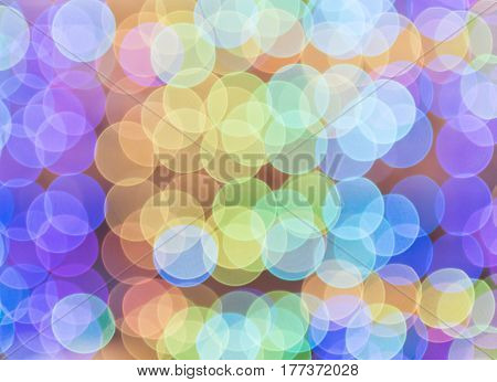 abstract rainbow color light bokeh background for decoration