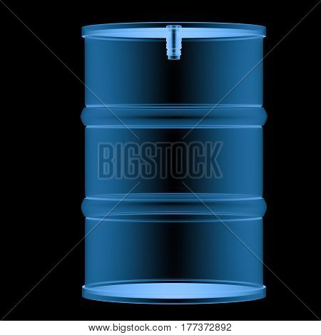 X Ray Barrel Isolated On Black
