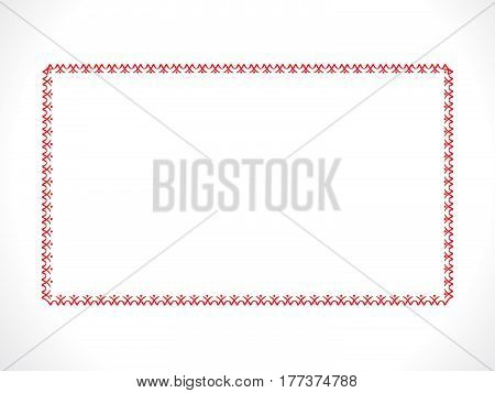 abstract artistic red floral border vector illustration