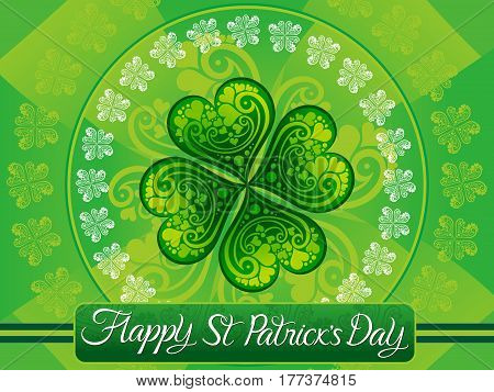abstract artistic st patrick background vector illustration