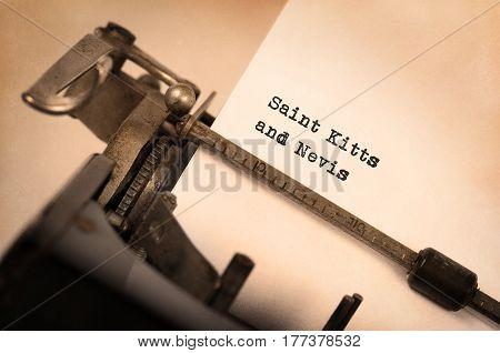 Old Typewriter - Saint Kitts And Nevis