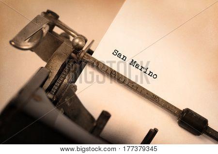 Old Typewriter -  San Marino