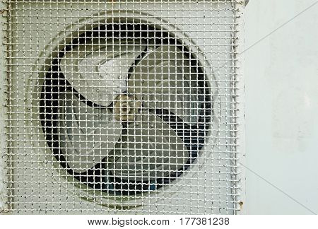 Old electric fan air condition close -up