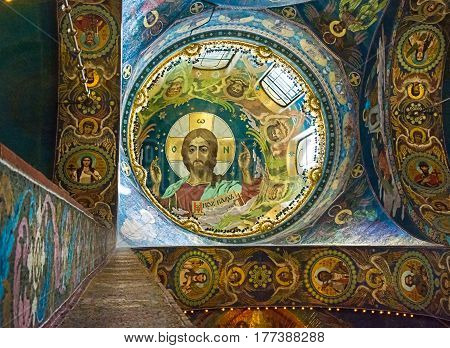 Church Of The Savior On Spilled Blood. Interior. The