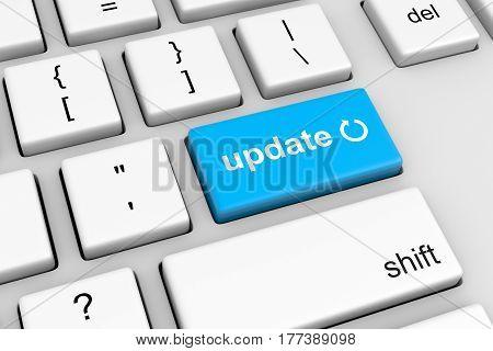 Update Symbol On Computer Keyboard Button