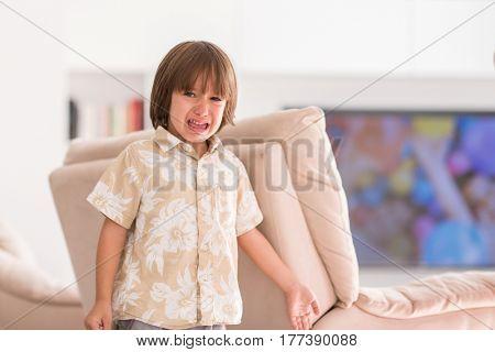 Kid at home crying