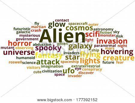 Alien, Word Cloud Concept 5