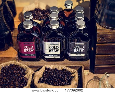 Fresh Organic Brew Coffee Beans Food Stall