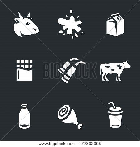 Beef, milk, packaging, chocolate, milking machine, bull, bottle, meat, cocktail.