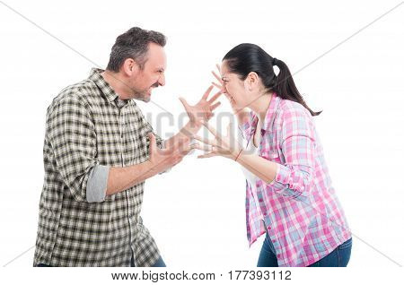 Angry Couple Fighting And Shouting