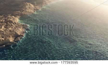 Sea Cave With Ocean Wide View
