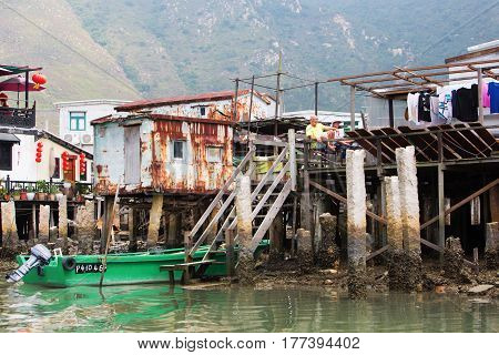Typical Stilt Houses In Tai O, Lantau Island, Hong Kong