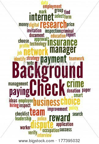 Background Check, Word Cloud Concept 5