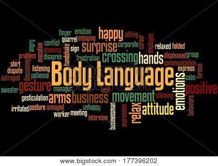 Body Language, Word Cloud Concept 4