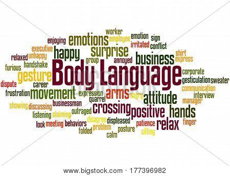 Body Language, Word Cloud Concept 7