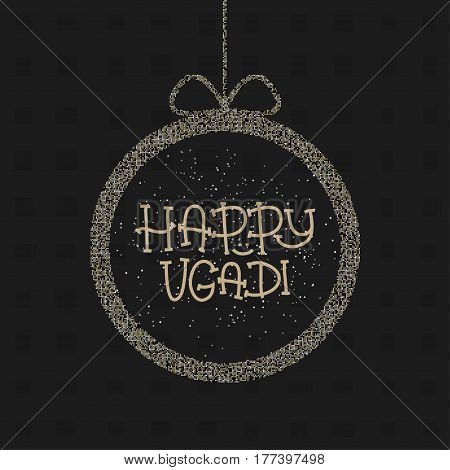 Happy Ugadi. The Hindu new year. Greeting card Template for holiday. Vector illustration