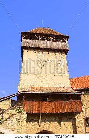 Medieval fortified saxon church in Calnic, Transylvania. medieval fortified saxon church in Calnic, Transylvania
