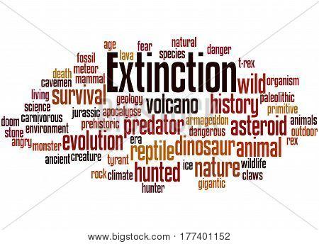 Extinction, Word Cloud Concept