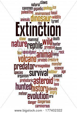 Extinction, Word Cloud Concept 7