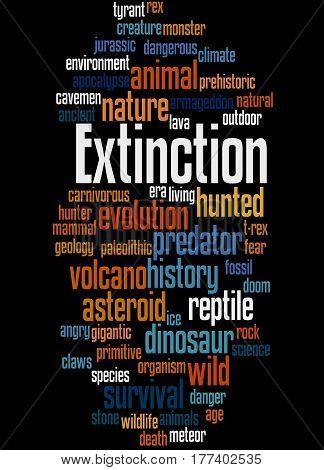 Extinction, Word Cloud Concept 9