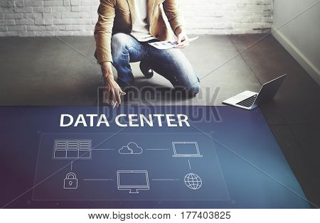 Data center global connection network technology system