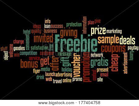 Freebie, Word Cloud Concept 6