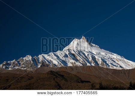 beautiful View at Manaslu peak in Nepal