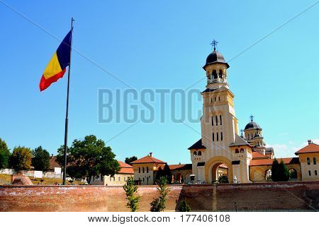 Medieval fortress Alba Iulia, Transylvania. The modern city is located near the site of the important Dacian political, economic and social centre of Apulon, which was mentioned by the ancient Greek geographer Ptolemy. Alba Iulia is an important romanian