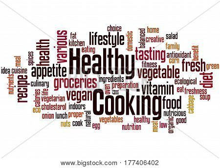 Healthy Cooking, Word Cloud Concept 2