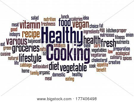 Healthy Cooking, Word Cloud Concept 3