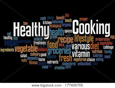 Healthy Cooking, Word Cloud Concept 4