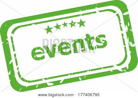Events Grunge Rubber Stamp Isolated On White Background