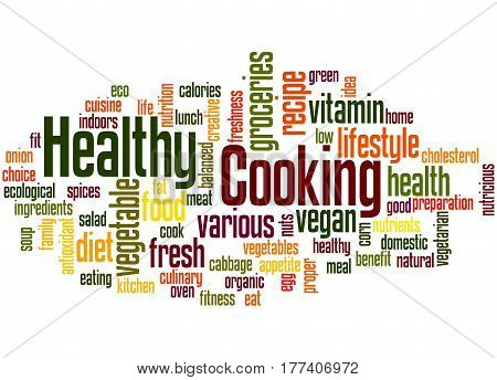 Healthy Cooking, Word Cloud Concept 6