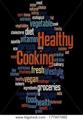 Healthy Cooking, Word Cloud Concept 9
