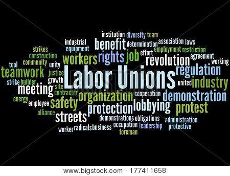 Labor Unions, Word Cloud Concept 6