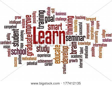 Learn, Word Cloud Concept