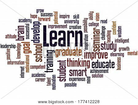 Learn, Word Cloud Concept 2