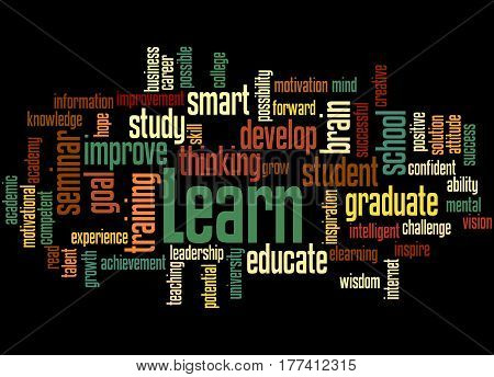 Learn, Word Cloud Concept 3
