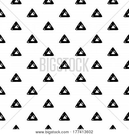 Abstract triangle pattern with hand drawn ink triangles. Cute vector black and white triangle pattern. Seamless monochrome doodle triangle pattern for fabric, wallpapers, wrapping paper and cards.