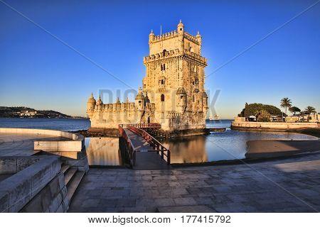 Belem Tower - Torre De Belem In Lisbon Portugal