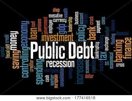 Public Debt, Word Cloud Concept 3