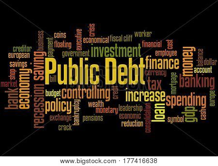 Public Debt, Word Cloud Concept 4