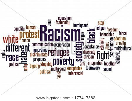 Racism, Word Cloud Concept 2