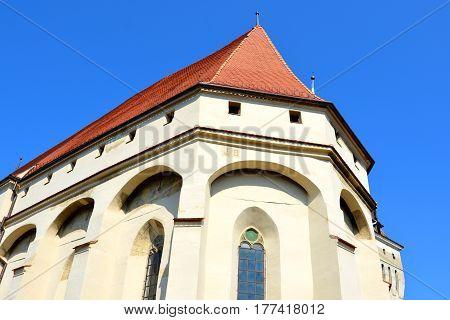Medieval fortified saxon church Saschiz Keisd, Transylvania