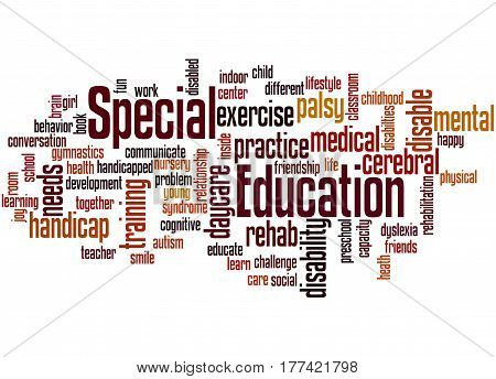 Special Education, Word Cloud Concept