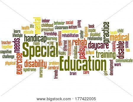 Special Education, Word Cloud Concept 3